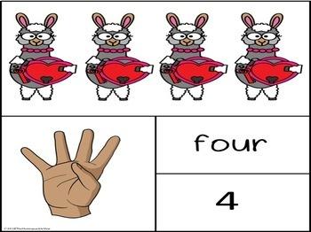 ASL Llama Valentines Math Cards