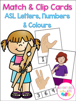 ASL Match & Clip Cards - Letters, Numbers & Colours