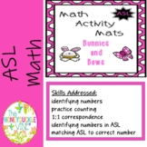 ASL Math Activity Mats Bunnies and Bows