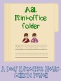 ASL Mini Office Folder