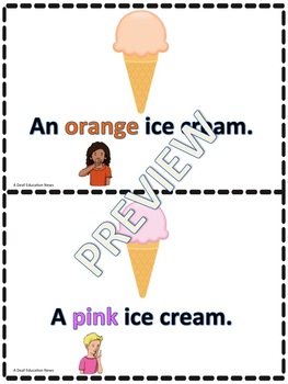 ASL: My Color Ice Cream mini book