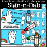 ASL NUMBERS 1 to 20 SIGN AND DAB - BONUS BUNDLE