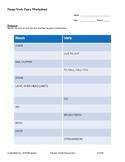 ASL 2 - Noun-Verb Pair Worksheet