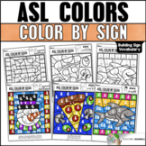 ASL Nouns Building Sign Vocabulary - Color By Sign