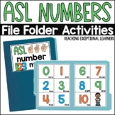 ASL Number File Folder Activity