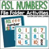 ASL Number File Folder Activity
