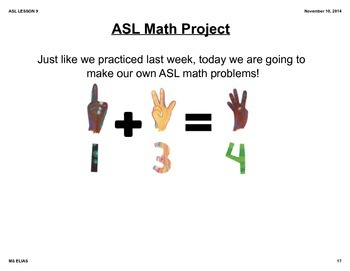 ASL Number Math Lesson