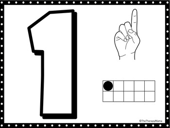 ASL Number Play Dough Mats