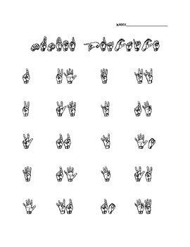 Beginner Sign Language Worksheets - The Best and Most ...