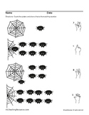 ASL Numbers 1-10 Counting with Sign Language, Math, Halloween Spiders