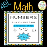 ASL Numbers 1-10 Sequential  Order File Folder Game