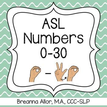 ASL Numbers 0-30