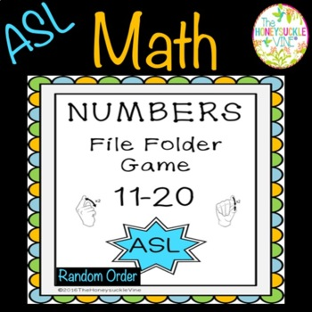ASL Numbers 11-20 File Folder Game