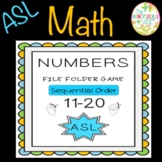 ASL Numbers 11-20 Sequential Order File Folder Game