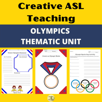 ASL  Olympic Thematic Unit - American Sign Language