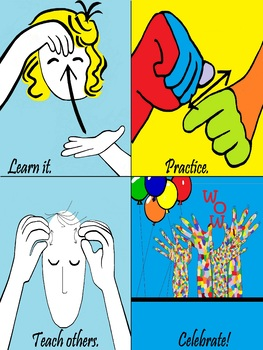 ASL POSTER:  Four Steps to Success