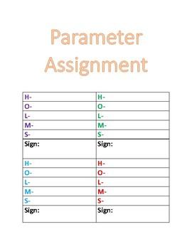 ASL Parameter Worksheet