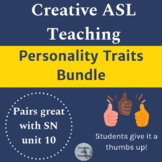 ASL Personality Traits Bundle