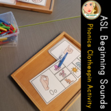 ASL Phonics Clip It Cards - Beginning Sounds (WITH answers for self-checking!)