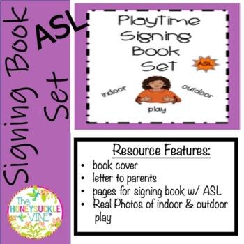 ASL Playtime Signing Book Set