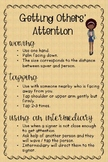 ASL Poster: Getting Other's Attention