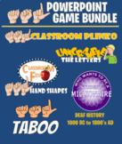 ASL PowerPoint Game Bundle-8 Total Games