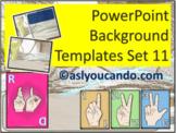 ASL Powerpoint Backgrounds Set 11
