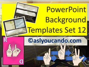 ASL Powerpoint Backgrounds Set 12