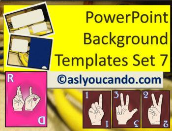 ASL Powerpoint Backgrounds Set 7