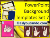 ASL Powerpoint Backgrounds Set 7
