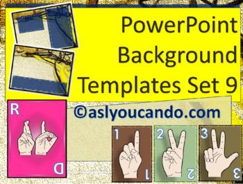 ASL Powerpoint Backgrounds Set 9