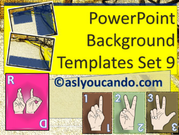 ASL Powerpoint Backgrounds Set 9