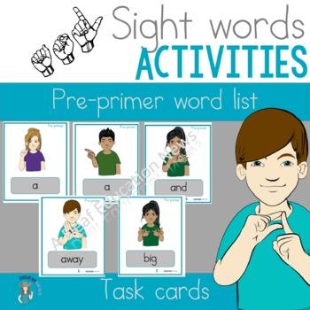 ASL Pre-primer flash cards