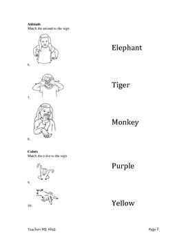 ASL Quiz Workbook