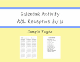 ASL Receptive - Calendar Activity