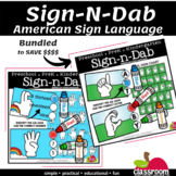 ASL SIGN-N-DAB CARDS - APHABET A TO Z & NUMBERS 1 TO 20 BUNDLE