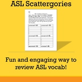 ASL Scattergories