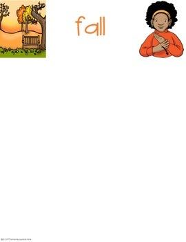 ASL Seasonal Sort File Folder Games