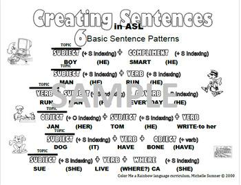 ASL Sentence PACK I(Black and White)