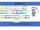 ASL Sentence Starter Adapted Book Bundles