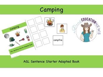 ASL Sentence Starter Adapted Book- Camping