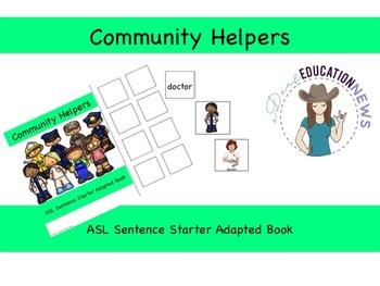 ASL Sentence Starter Adapted Book- Community Helpers