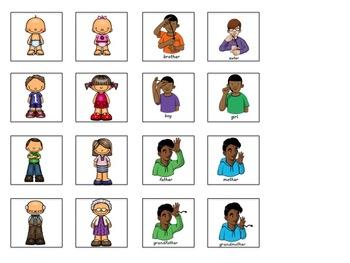 ASL Sentence Starter Adapted Book- Family