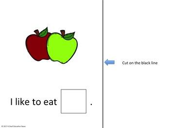 ASL Sentence Starter Adapted Book- Fruits