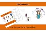 ASL Sentence Starter Adapted Book- Halloween