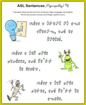 ASL Sentences (Fingerspelling)