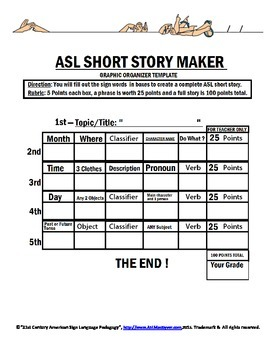 ASL Short Story Maker