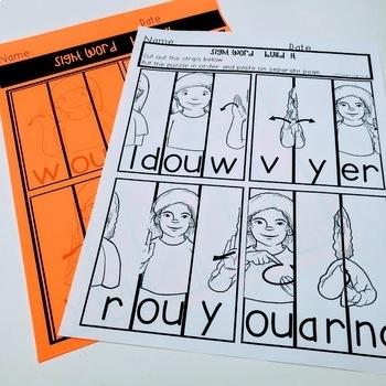 ASL Sight Word BUILD IT Second  Grade