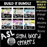 ASL Sight Word Centers BUILD IT BUNDLE