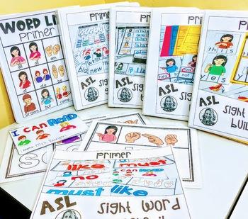 ASL Sight Word Centers PRIMER BUNDLE